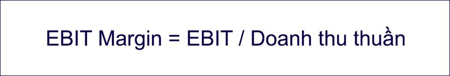 Công thức tính EBIT Margin